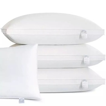 High quality siliconized polyester fiber soft bed pillow