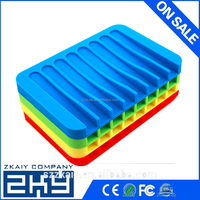 Anti Slip Water Bathroom Silicone Soap Box Cleaning Sponge Dry Storage Holder Plate Drain