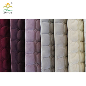 China Home Textile 100% polyester knitted mattress embroidery fabric for sofa