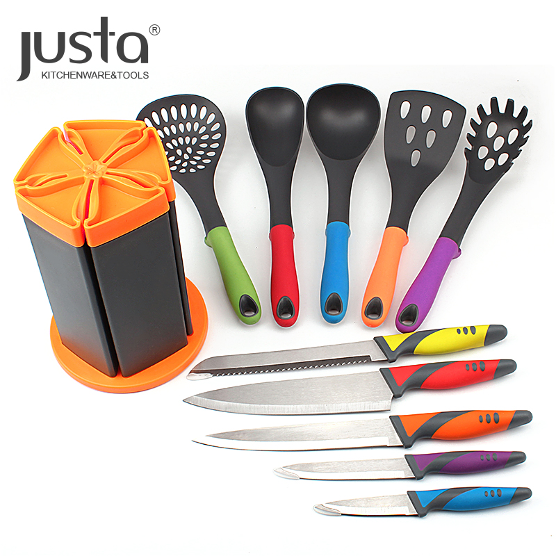 Best Product 11 Piece Elevate Heat-Resistant FDA LFGB Approved Kitchen Knife Utensils <strong>Set</strong> with storage stand