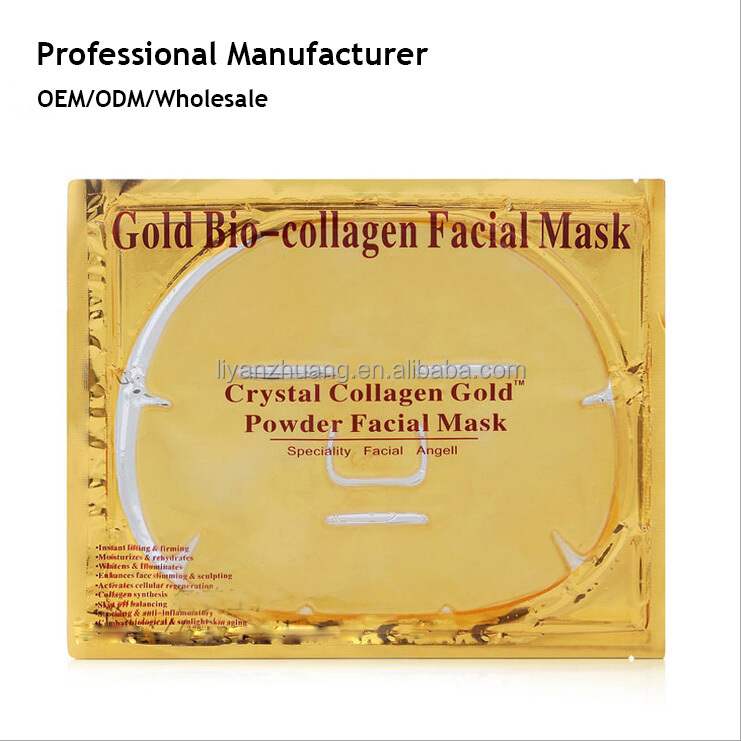 24k Gold Collagen Crystal Anitiaging Firming Facial Mask