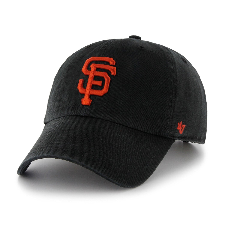 6fd5591fea5 Get Quotations · MLB San Francisco Giants  47 Brand Black Basic Logo Clean  Up Home Adjustable Hat