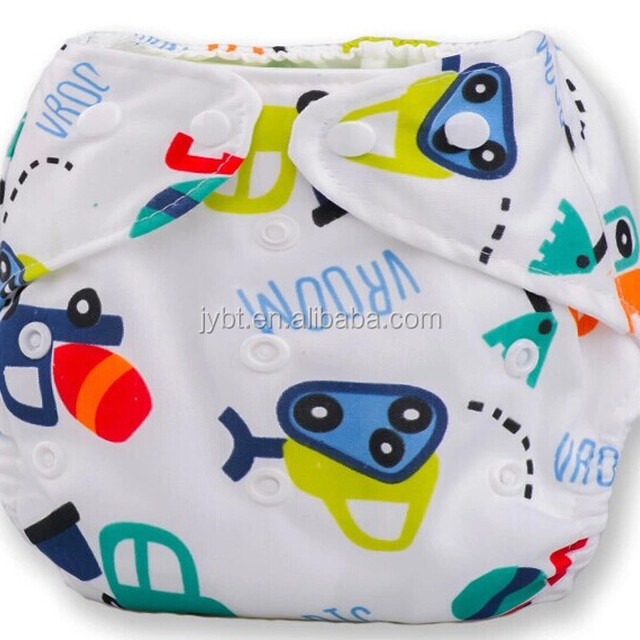 Reusable nice diapers for baby + inserts 3 Layers white mircofiber