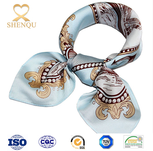 New Arrival Satin Square Artifical Silk Scarf Printed for Ladies Women's satin silk Scarves Handkerchief 50cm*50cm