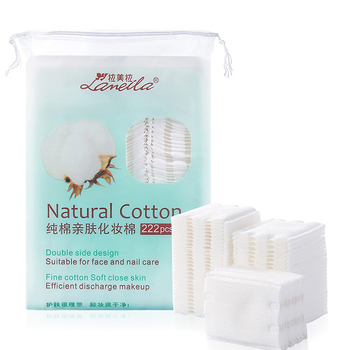 Cosmetic manufacturer cotton pads make up soft square organic cotton pads