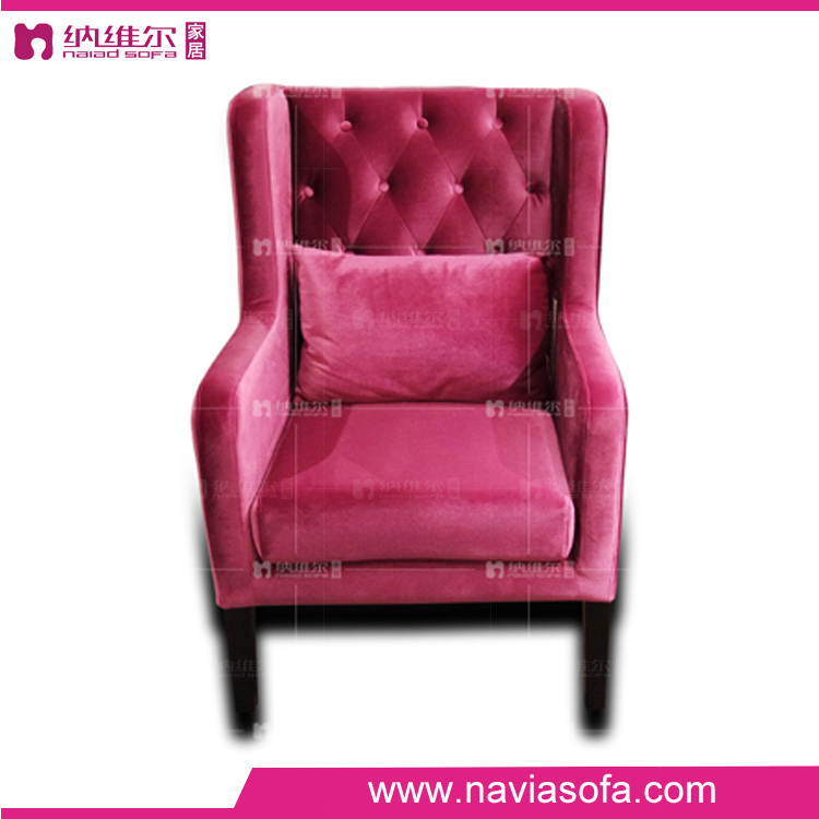 China foshan buy bedroom furniture online French classic lounge chair comfortable fabric leisure single sofa chair
