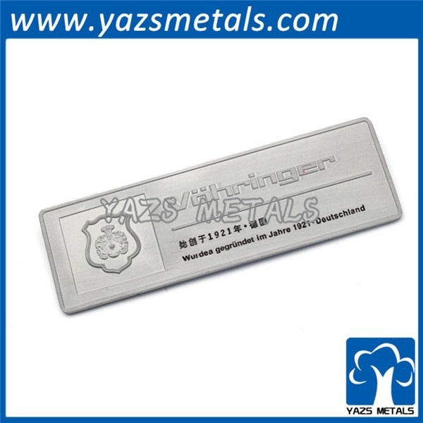 Factory custom company logo pewter name brand tag craft