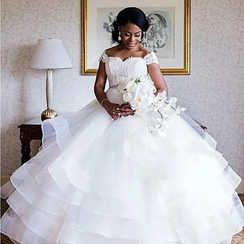 Zh3147g South African Lace Ball Gown Wedding Dresses Off The Shoulder  Ruffles Plus Size Bridal Gown - Buy Plus Size Bridal Gowns,Victorian Ball  Gowns ...