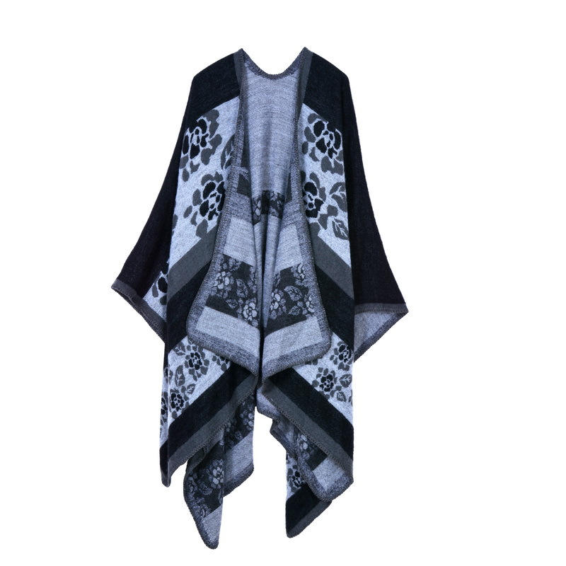 GUGUTREE winter warm fashion woolen women cape coat cloak