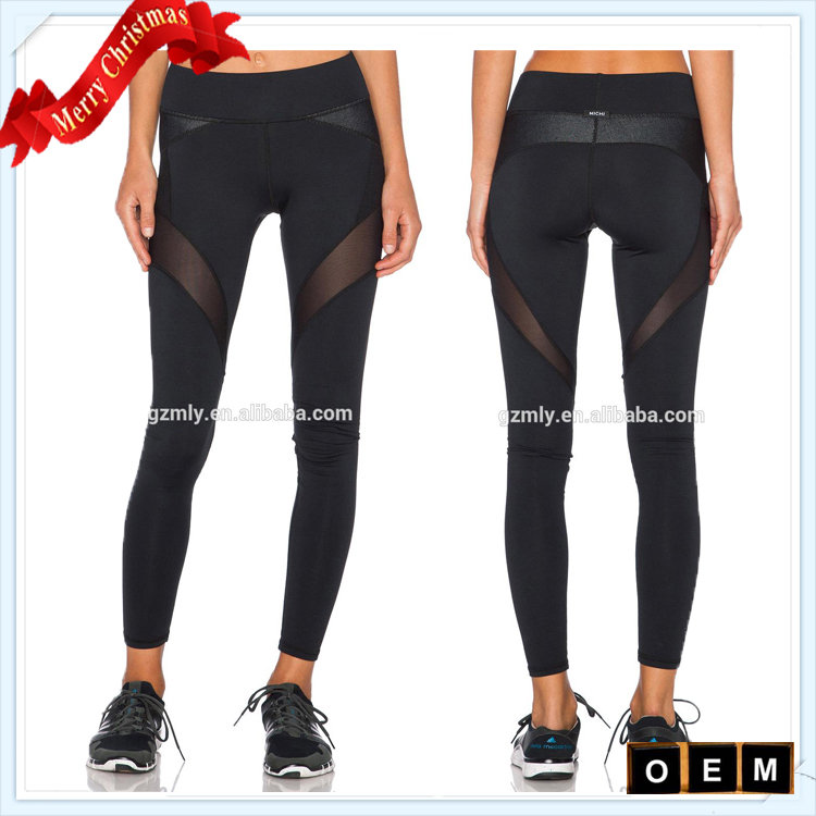 fitness activewear custom brazilian fitness wear leggings with mesh
