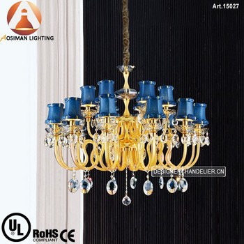 18 Light Elegant Crystal Lamp with Clear Crystal