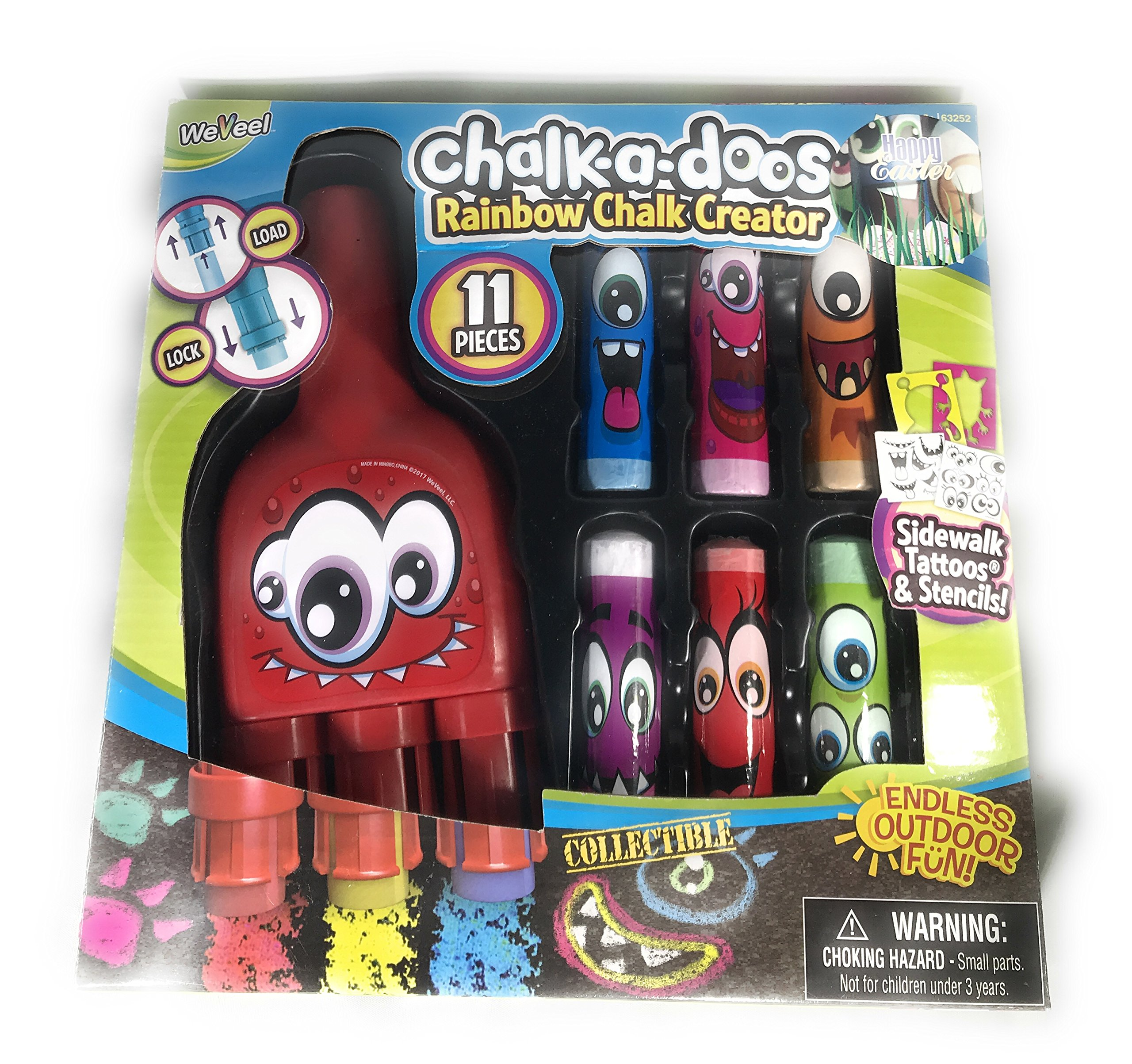 Cra-Z-Art Rainbow Stencilz Chalk Fun Set