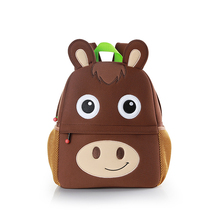 Horse Embroidery School Bag For Children Cute Neoprene Kids School Bags