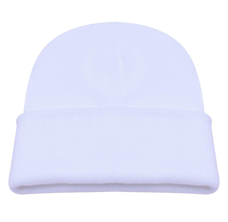 07177c0eb7b Get Quotations · PZLE Mens Winter Hat White Beanie Skull Hat Beanie Cap Men  Hats Men Beanie White