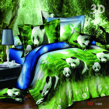 Printing Panda High Thread Count Bed Sheets