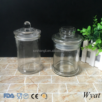 Cheap Empty 350ml 12oz Round Glass Food Canister Jars with Glass Lids