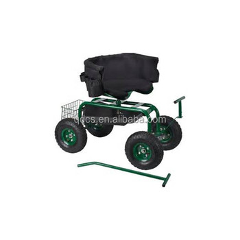 Amazing Tractor Seat Garden Scooter Cart With Handle