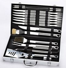 24 STKS Grill Tool/Barbecue Tool Set/<span class=keywords><strong>BBQ</strong></span> Tool <span class=keywords><strong>Kit</strong></span> In Aluminium Case