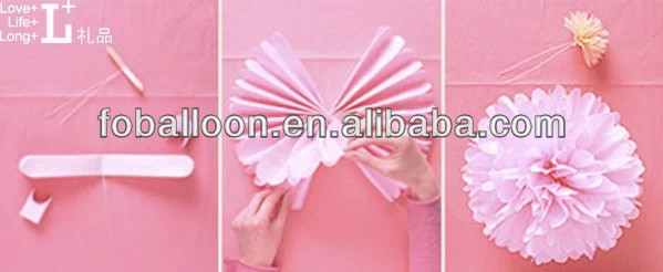 3 to 20 cm Blush Tissue Paper Pom Poms Flowers Balls Hanging Decorations