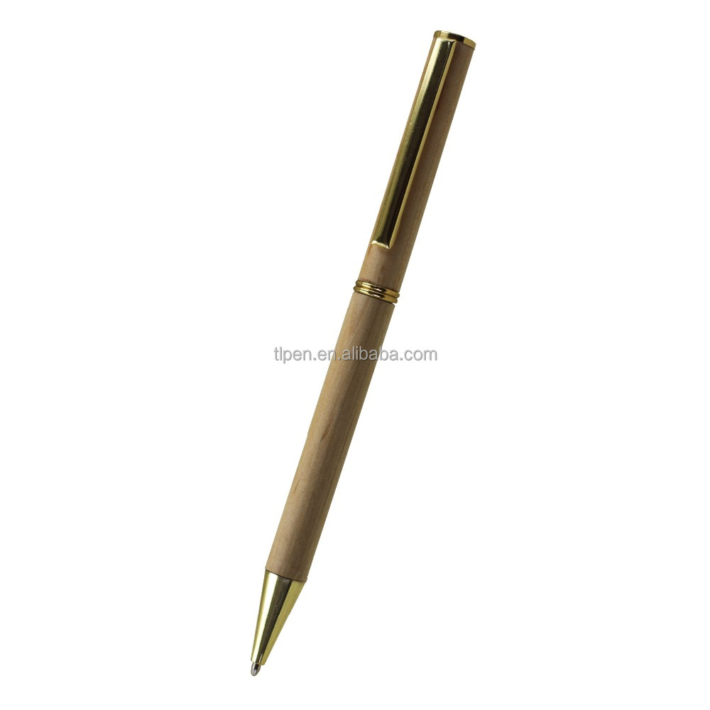 promotional natural wood pen
