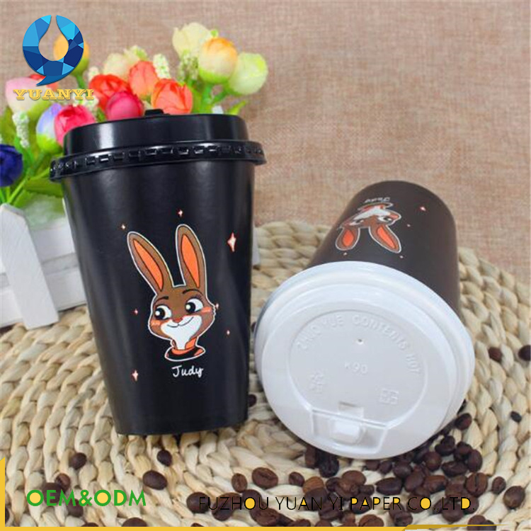 Disposable printed milk shake paper cup 500ml