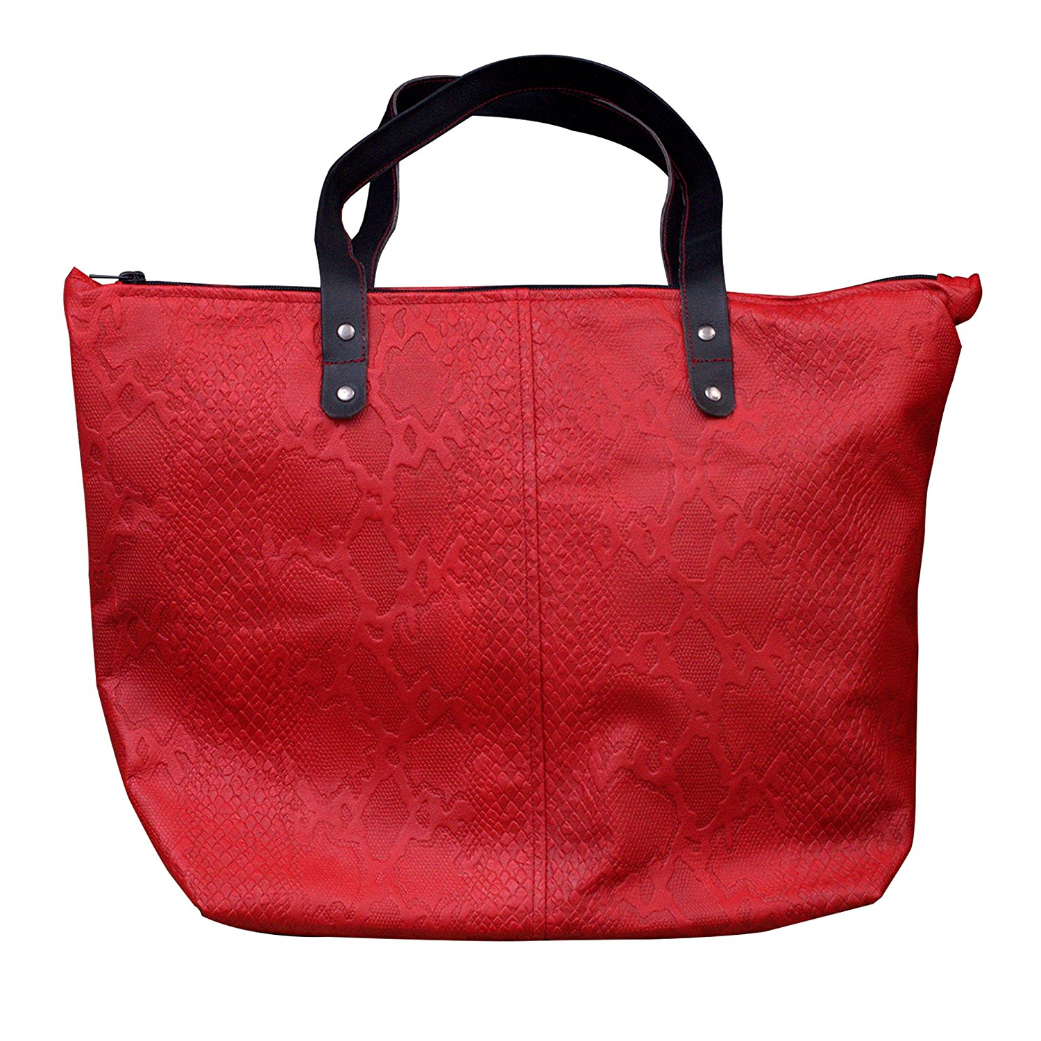 Xport Designs Everyday Maroon Zipper Women Sheep Leather Tote - Shoulder Bag - Leather Purse