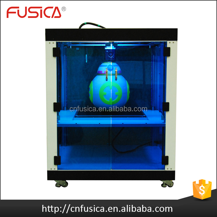 FUSICA industrial big size dlp 3d picture metal printing and printer machine with pla filament