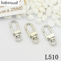 free samples 12.4*32.8MM Metal square Swivel Clip Trigger Snap Hook With best quality