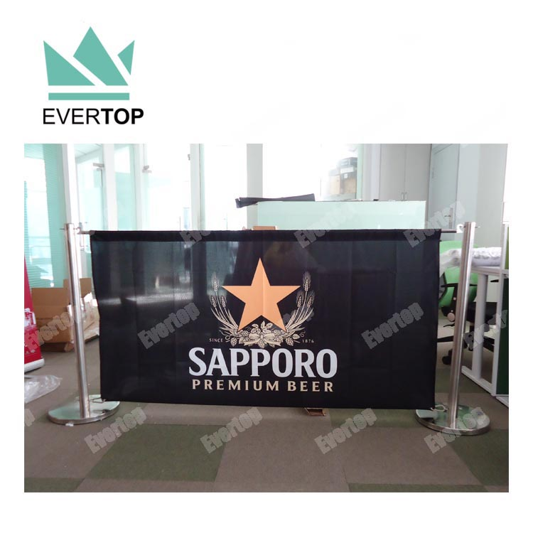 TS-CB01 Hot Sell Custom Printed Coffee Shop Banner Outdoor Sign Posts, Cafe Outside Seating Barrier Bar