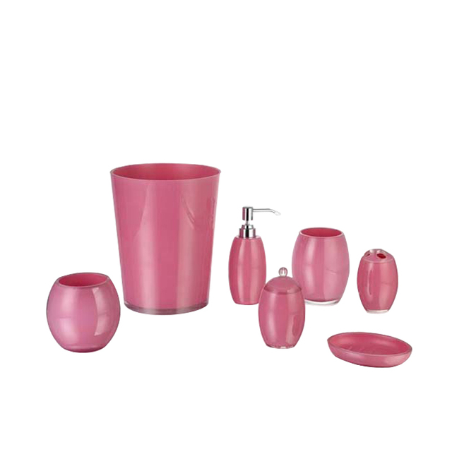 Ordinaire Resin Hot Pink Bathroom Accessories Sets Factory