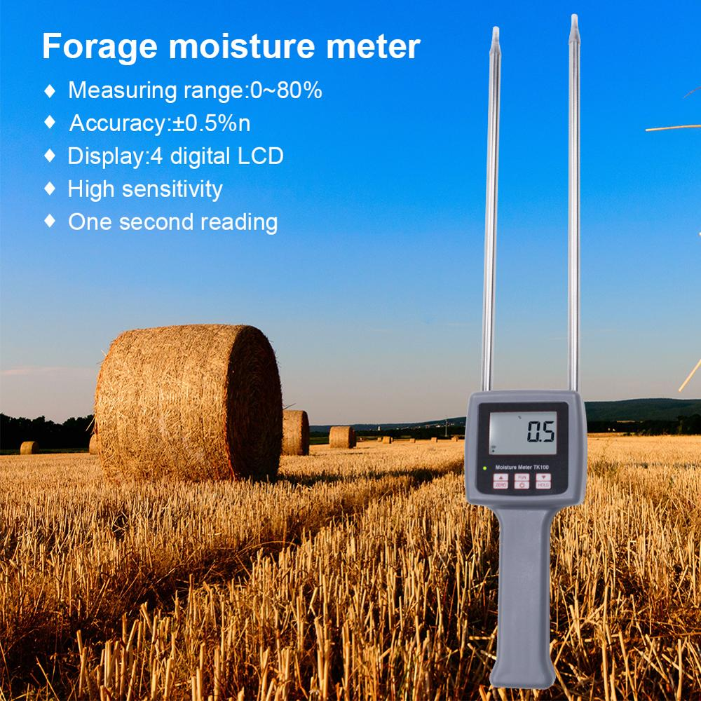 Forage Grass,Leymus Chinensis Portable Hay Moisture Meter for Cereal Straw,Bran Emperor Bamboo Grass,Testing Fibre