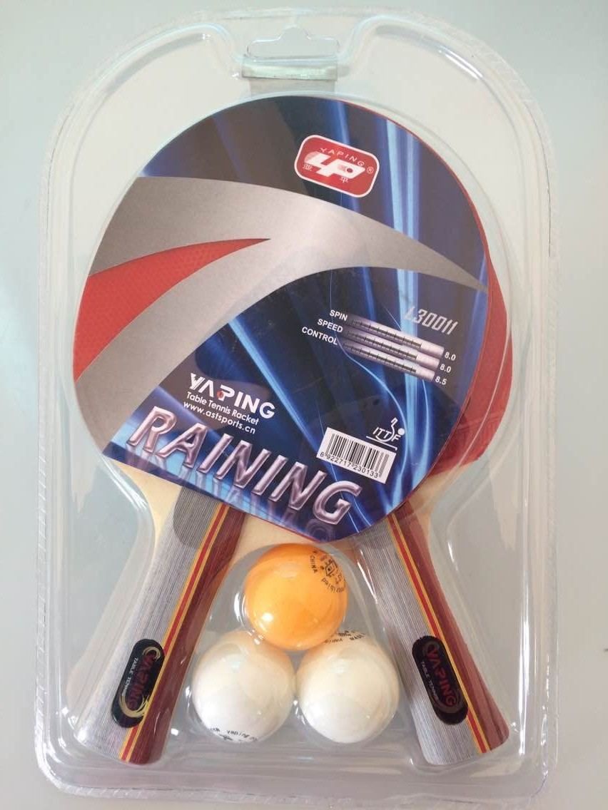 Yaping Ittf Marked Table Tennis Racket Set With 2 Bats And 3 Balls ...