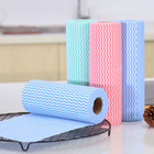 Perforated disposable kitchen wipes rolls of wood pulp spunlace nonwoven rags for household bathroom floor furniture cleaning