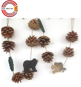 hand carved Christmas wooden garland
