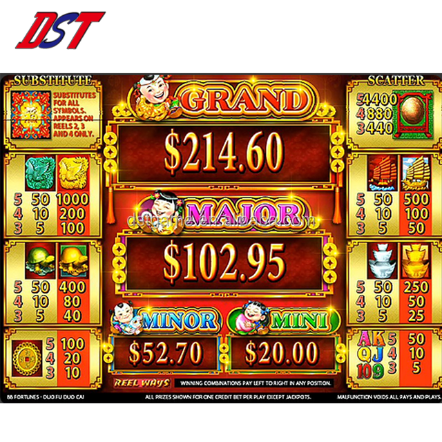 88 FORTUNES DuoFuDuoCai Gokken PCB Video Casino Slot Machine