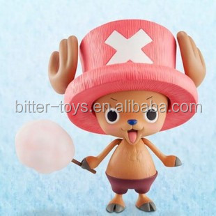OEM 3d cartoon animal plastic one piece figuer toys custom PVC chopper toys