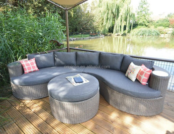 Cloud Shaped Rustic Synthetic Rattan Weave Best Outdoor Sofa Set