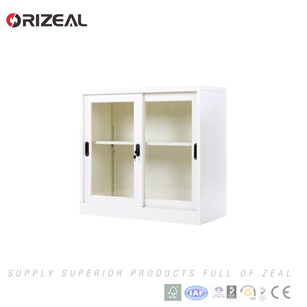 Steel Cupboard Design Sliding Glass Door Steel Locker Cabinet
