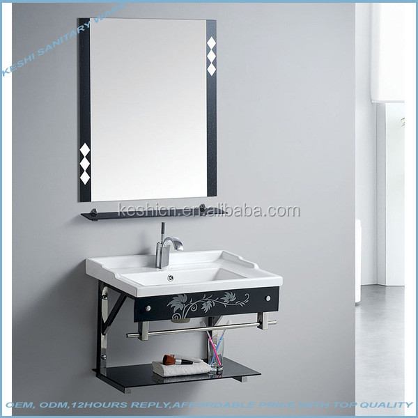 KS256 stainless steel stent glass modern bathroom vanities
