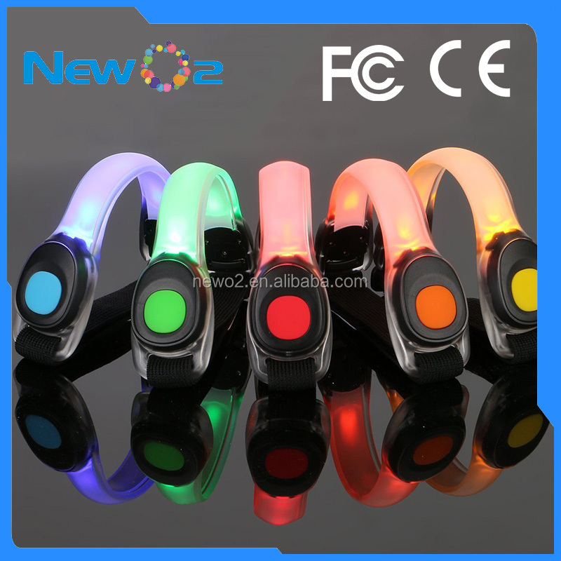 Bunten LED Outdoor lauflicht arm band night sicherheit band für sport LED armband