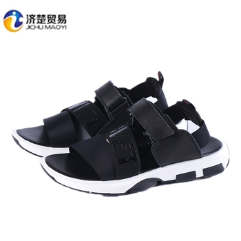 3f7a17365e85 2017 new men s shoes summer leather sandals Men s fashion first layer of  leather magic sandals