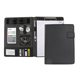 High quality a4 leather magnetic clipboard file folders with calculator