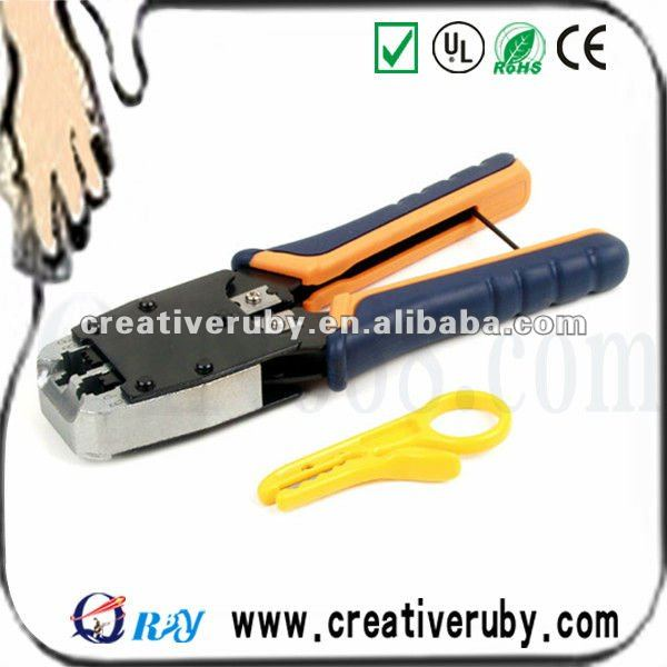 shenzhen factory HT-500R Cutter +stripper+Dual-modular 8P+6p plug crimps tools
