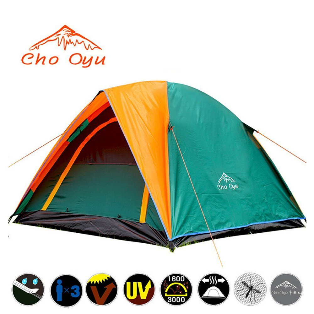 Cho Oyu—3,4 Person 2 Layers 2 Rooms Tent Portable Backpack Tent Rainproof for Camping Hiking