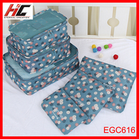 Korea travel luggage 6 pcs set waterproof Underwear zipper clothes travel storage bag