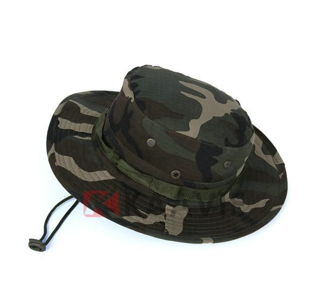 2804d6e4930 Wholesale Woodland Camo Boonie Hat Army Green Military Bush Hats Custom  Black Jungle Bush Hat