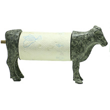 Resin Standing Cow Kitchen Paper Towel Roll Holder