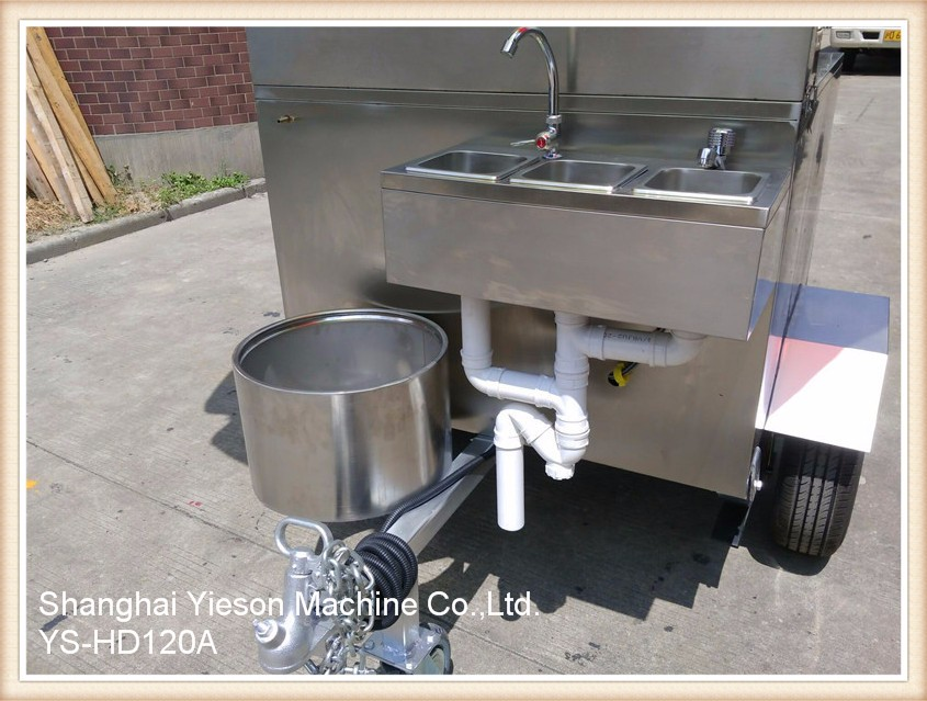 Ys hd120a stainless steel mobile kitchen trailer mobile deep fryer ys hd120a stainless steel mobile kitchen trailer mobile deep fryer cart workwithnaturefo