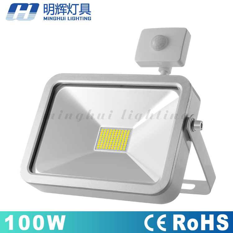 outdoor motion sensor Apple PAD Design 100W led <strong>flood</strong> light driverless