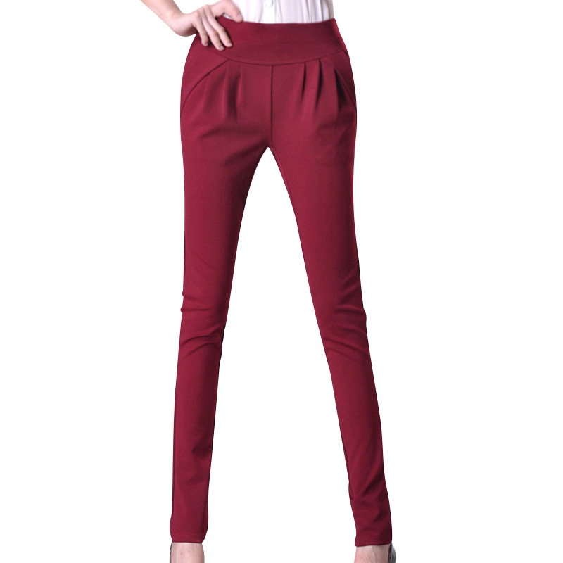 Solid Color Lady Clothing Size S-2XL Fashion Woman Straight Pencil Pants Leggings Polpular Design Female Casual Trousers